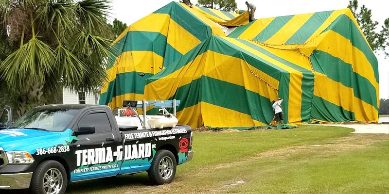 Preparing for a Tent Fumigation & Tent Fumigation - Terma Guard